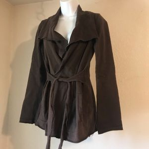Lucky Brand Brown Wrap Jacket